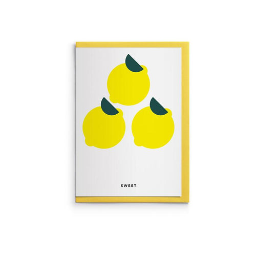 Sweet: Lemon Hanji Card by HANADURI