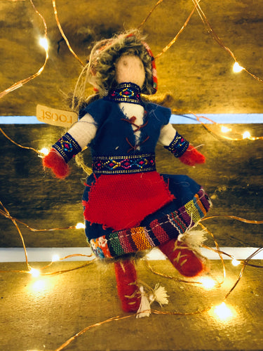 Laplandia Ornament: Skirt + Red Tights