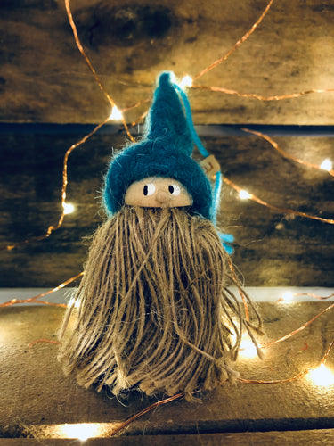 Tomte Ornament: Teal