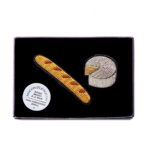 Baguette & Cheese Pin by Macon & Lesquoy