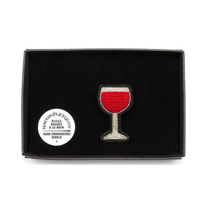 Wine Glass Pin by Macon & Lesquoy