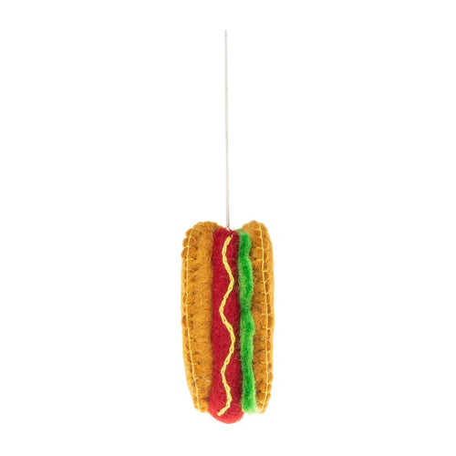 Felt Hot Dog Ornament
