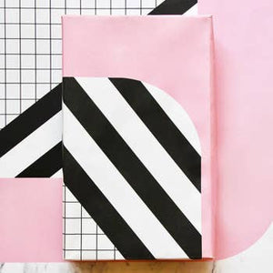 Pink Grid Mix Gift Wrap