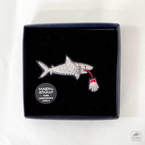 Shark Biting Hand Pin by Macon & Lesquoy