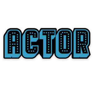 Actor Enamel Pin