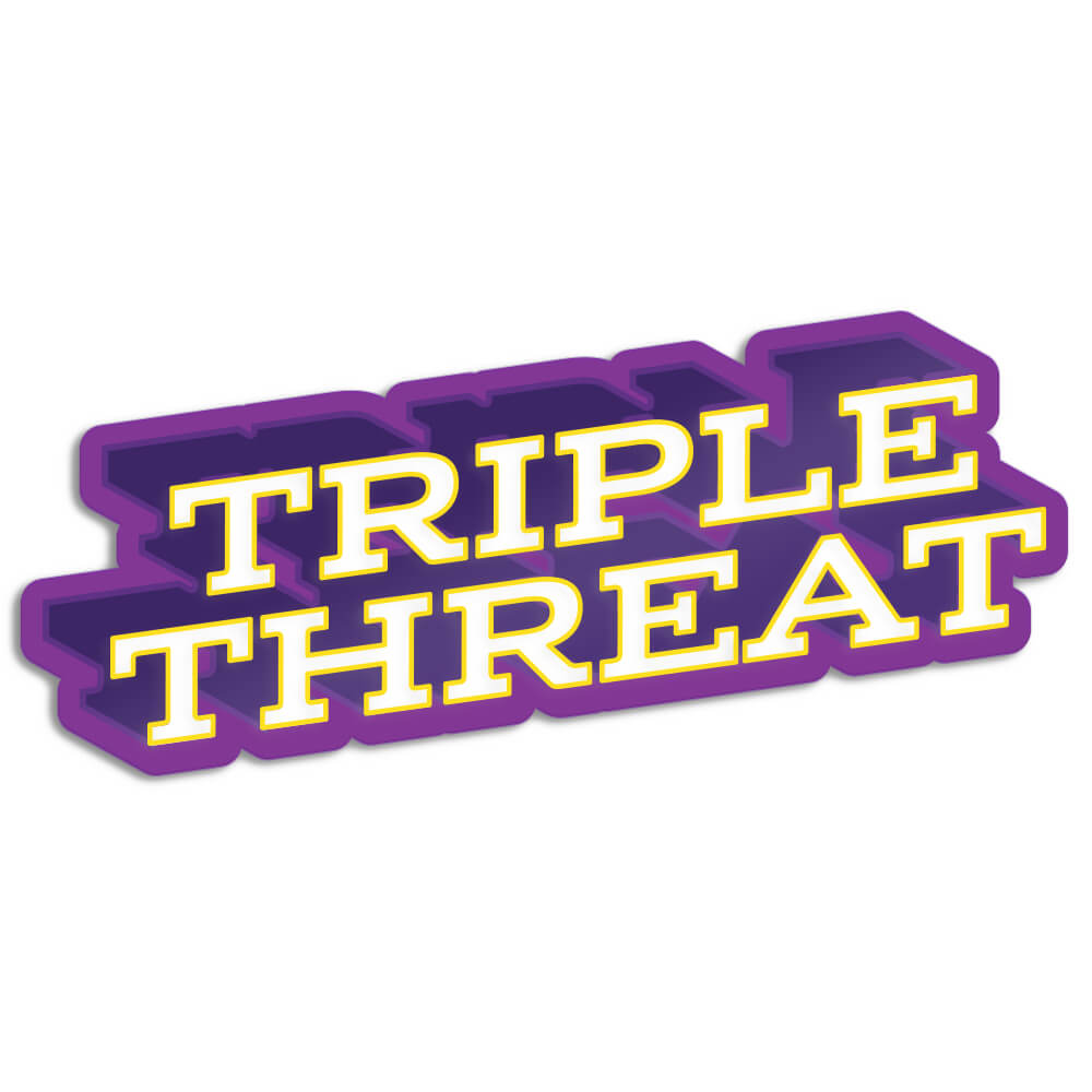 Triple Threat Enamel Pin