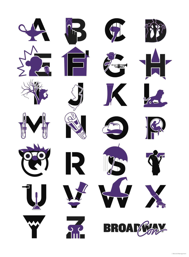 ABCs of Broadway Poster