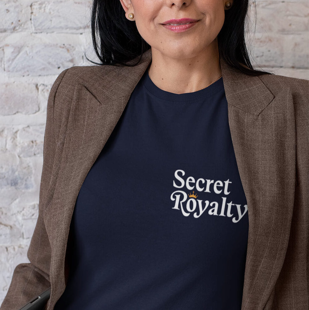 Holiday Trope – Secret Royalty Fitted T-Shirt