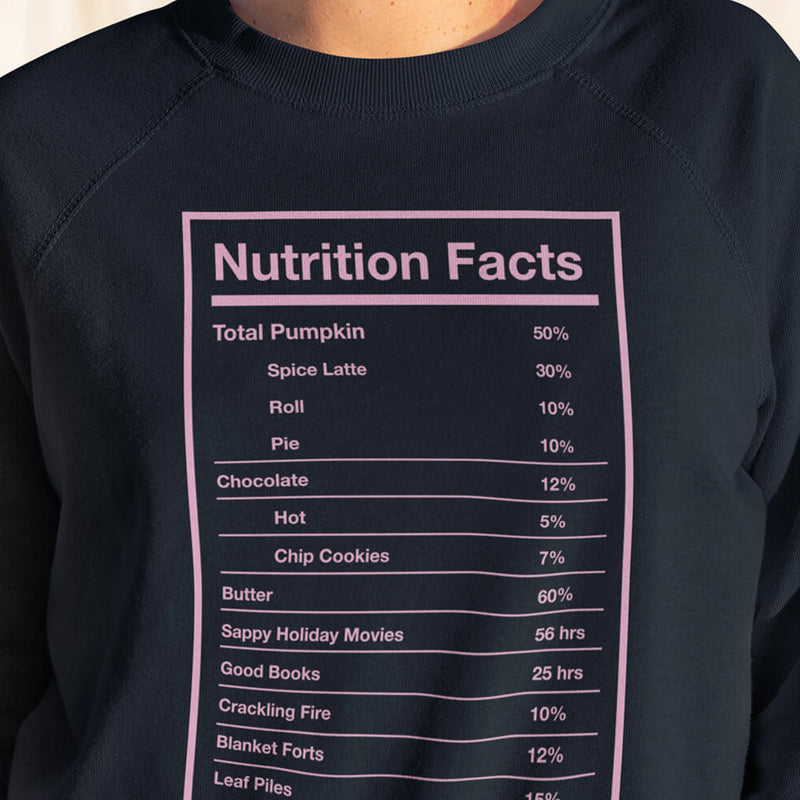 Holiday Nutrition Facts Sweatshirt