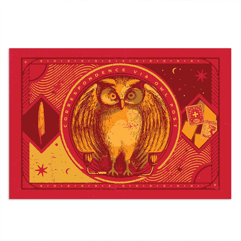 Correspondence by Owl Postcards (Set of 4)