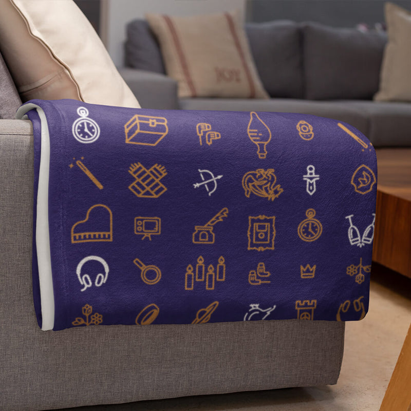 Write Your Own Story Throw Blanket (Purple)