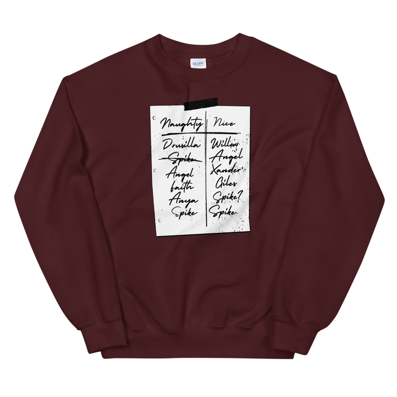 Slayer's Naughty and Nice List Sweatshirt