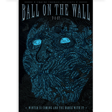 Con of Thrones 'Ball on the Wall' Poster