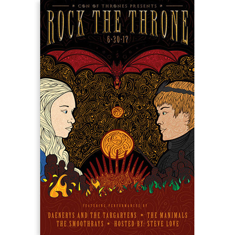 Con of Thrones Rock the Throne Poster
