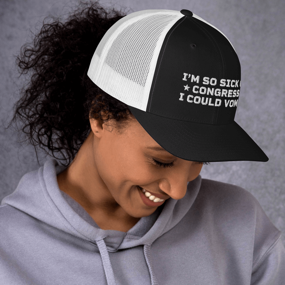 So Sick of Congress Retro Trucker Cap