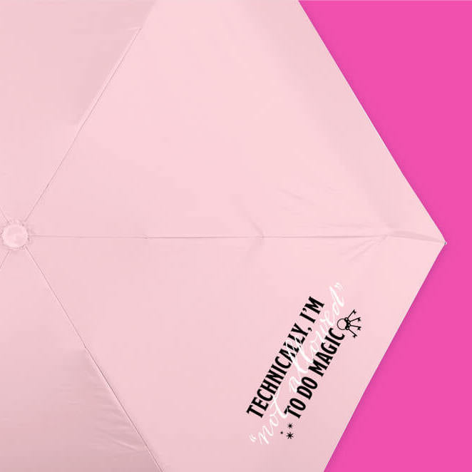 Technically Not Allowed Pink Umbrella