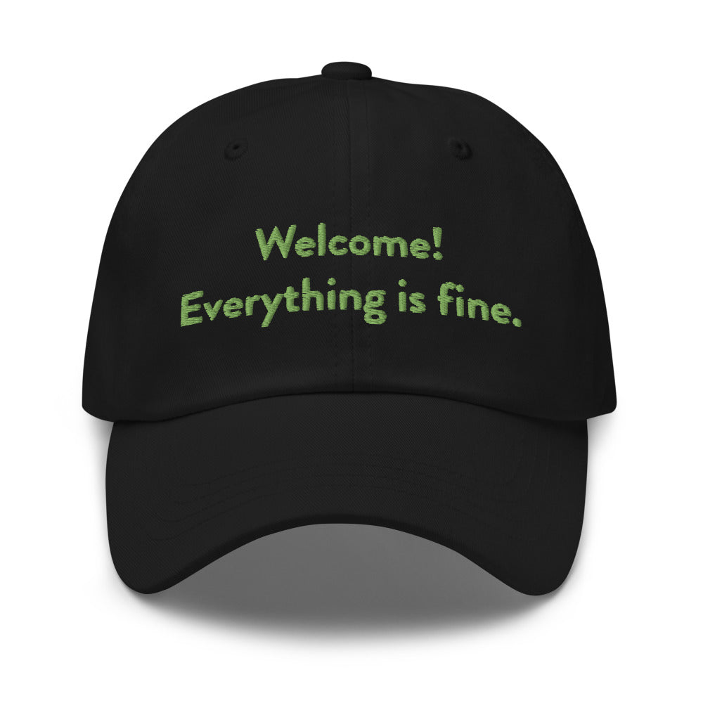 Welcome! Everything is fine. Dad Hat
