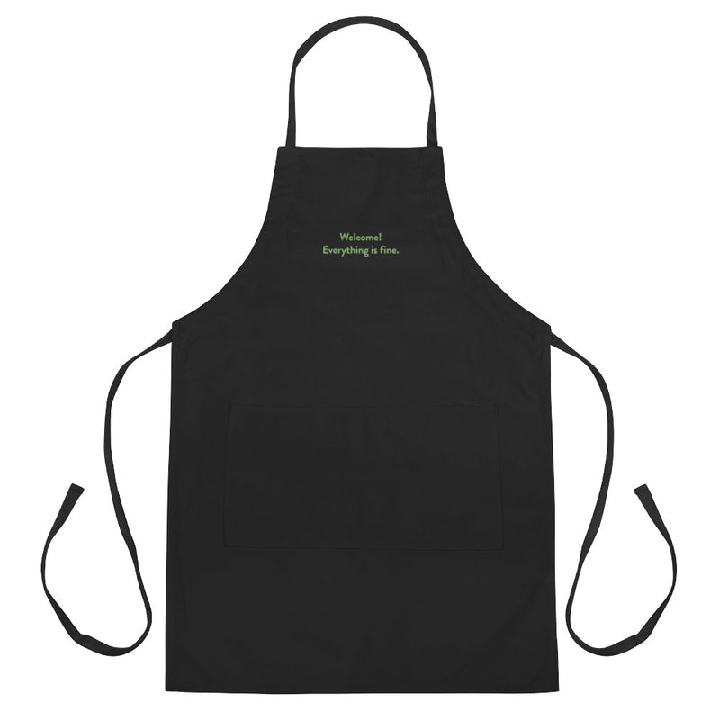 Welcome! Everything is fine. Embroidered Apron