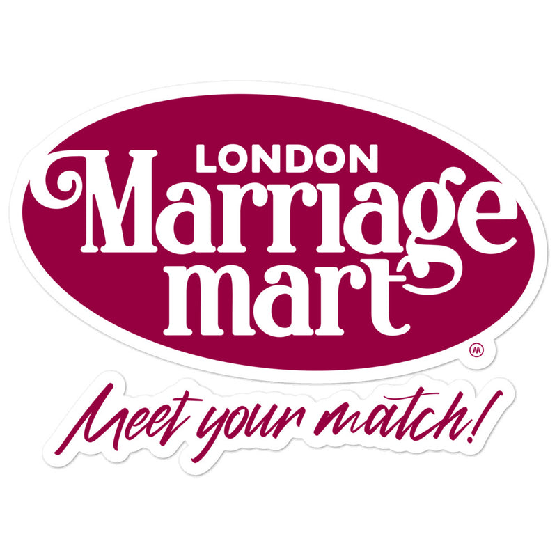 Marriage Mart Sticker