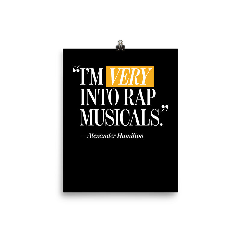 I'm Very Into Rap Musicals Poster