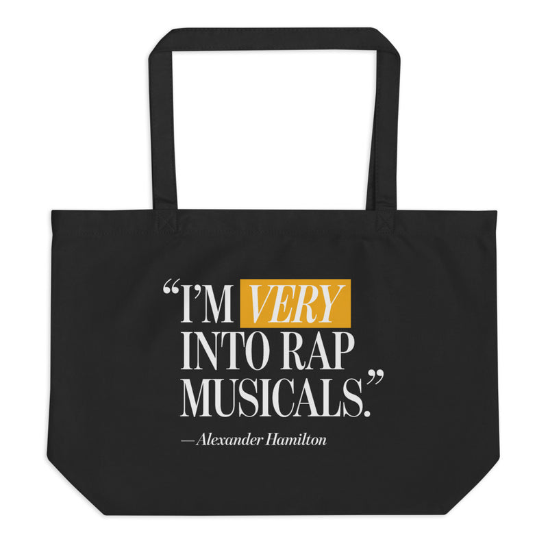 I'm Very Into Rap Musicals Large Tote