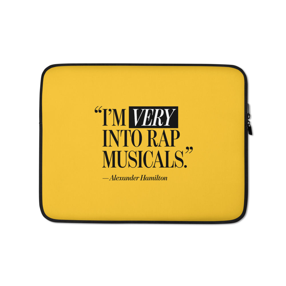 I'm Very Into Rap Musicals Laptop Case