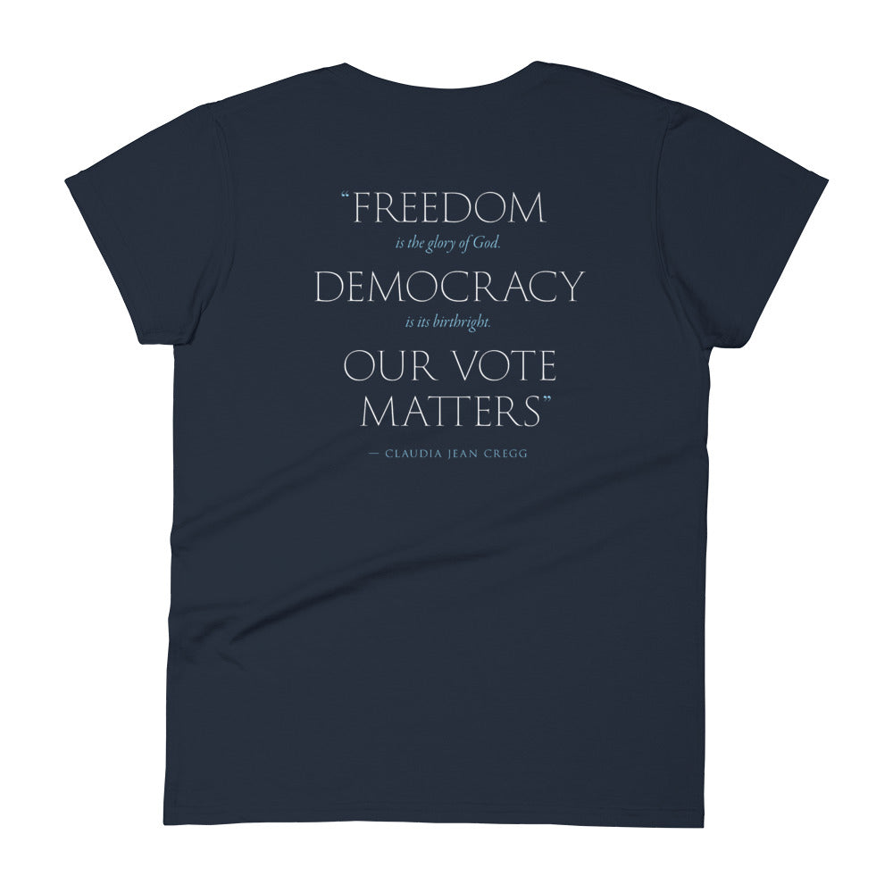 Our Vote Matters Fitted T-Shirt