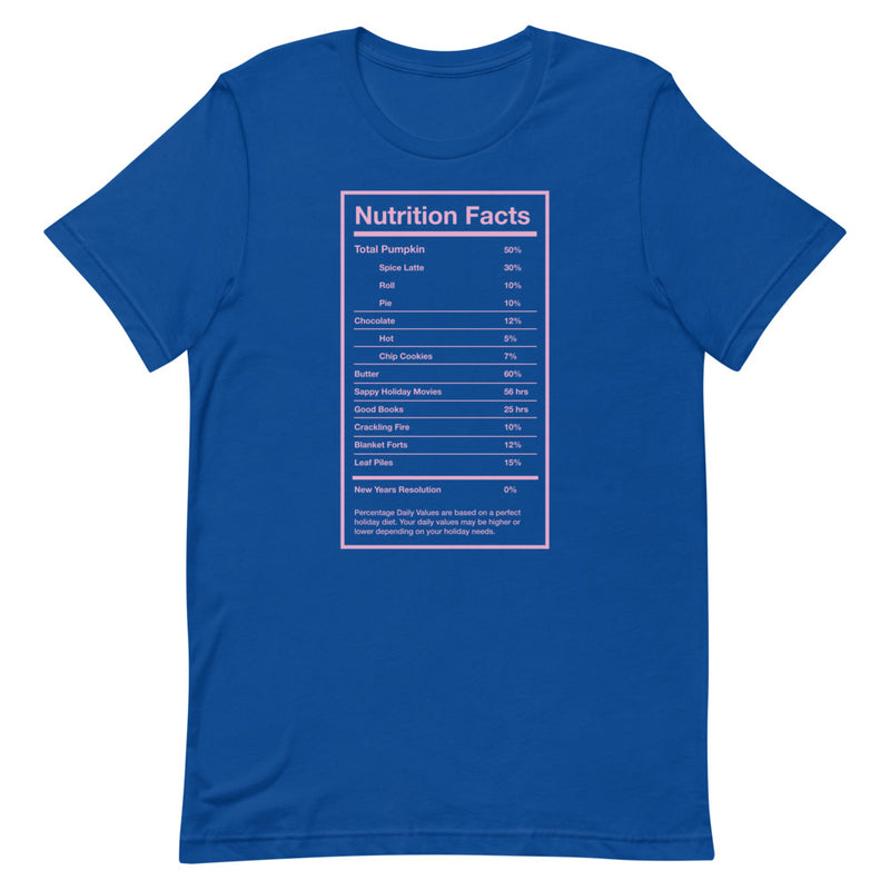 Holiday Nutrition Facts Relaxed T-Shirt
