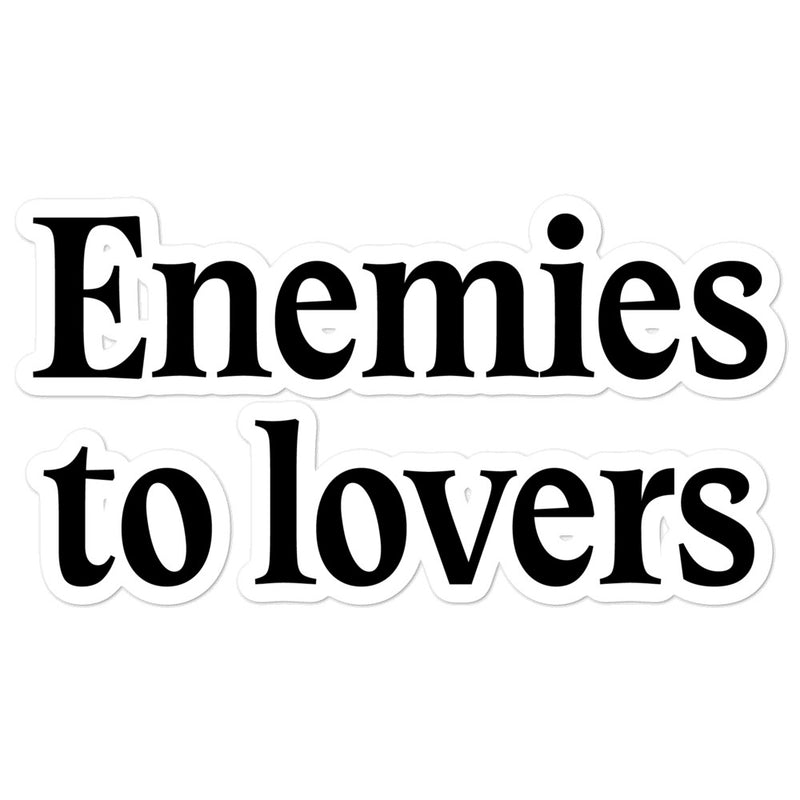 One True Trope - Enemies to Lovers Sticker
