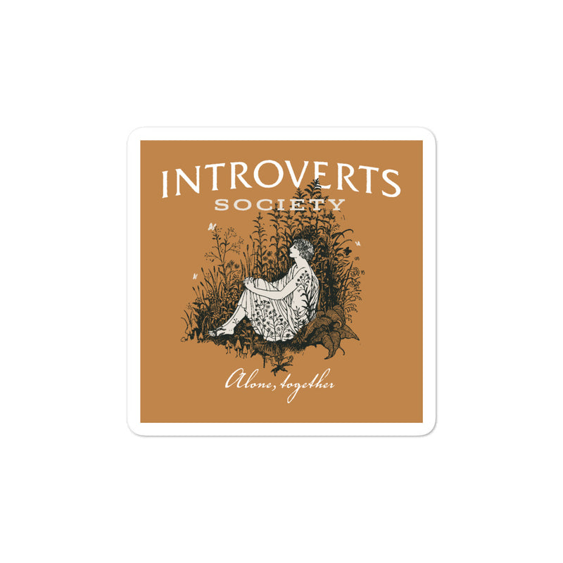 Introverts Society Sticker