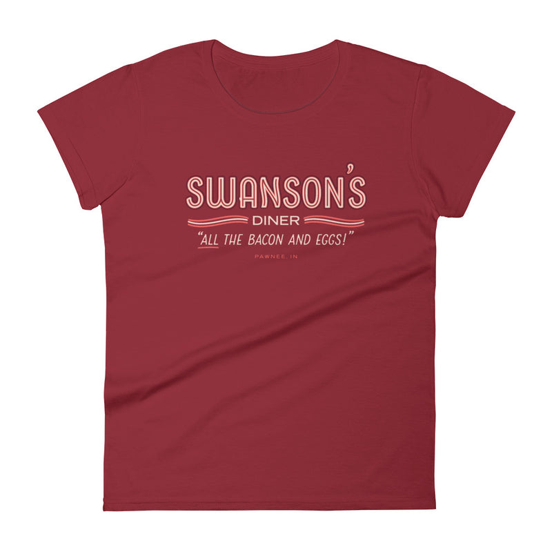 Swanson's Diner Fitted T-Shirt