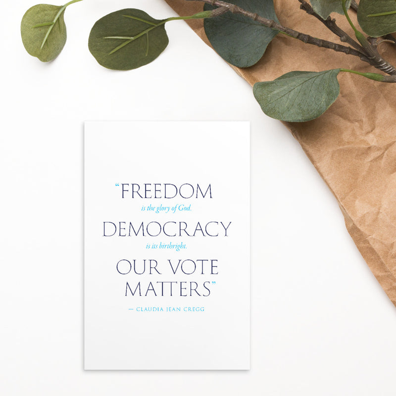Our Vote Matters Postcard