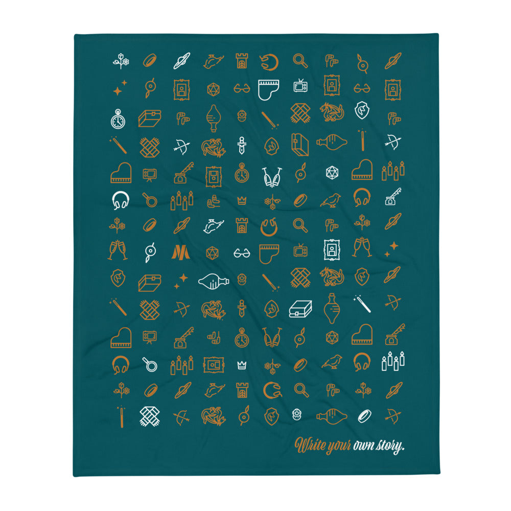 Write Your Own Story Throw Blanket (Teal)