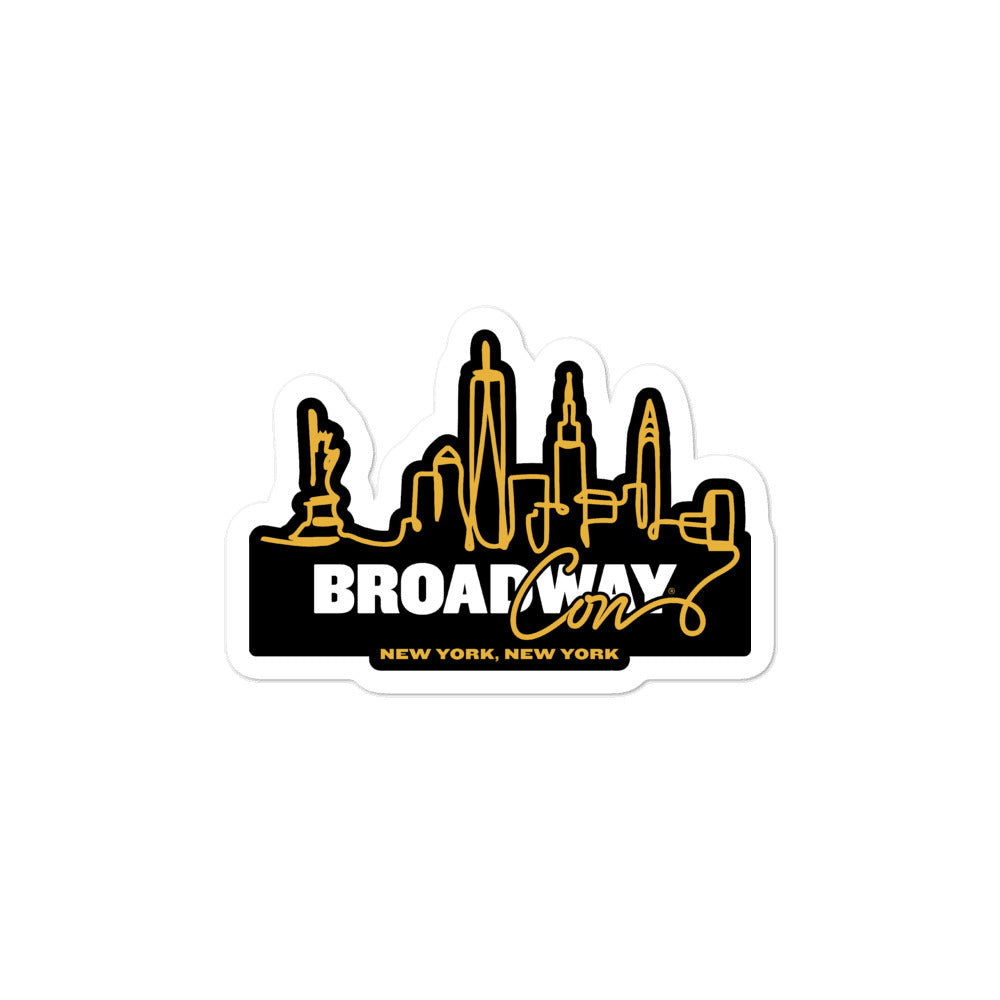 BroadwayCon NYC Skyline Sticker