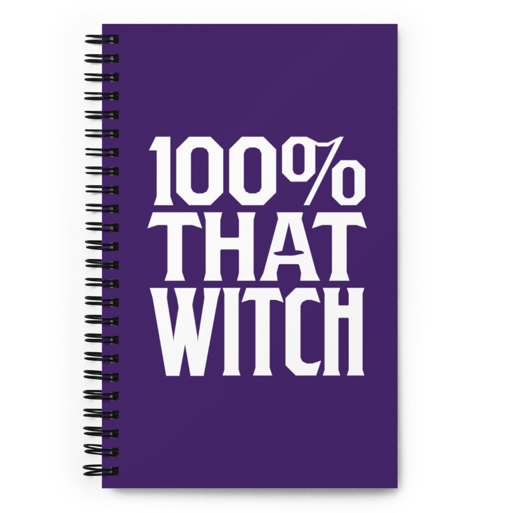 100% That Witch Spiral Notebook