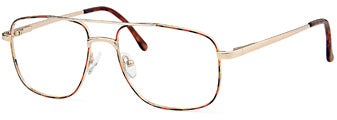 Black/Gold Capri Optics Olive Eyeglass Frames
