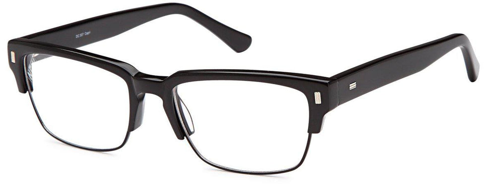 Black-Classic Club Master DC 307 Frame-Prescription Glasses-Eyeglass Factory Outlet