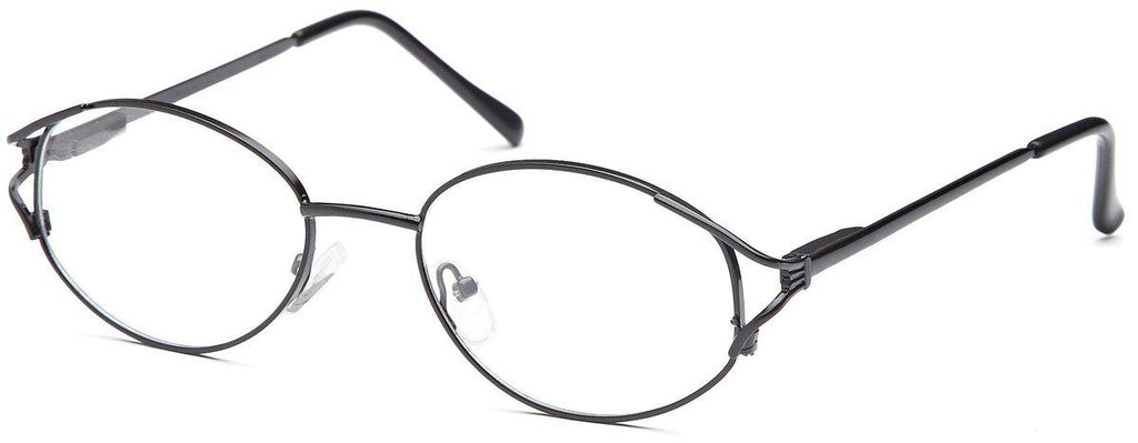 Black-Classic Oval PT 7704 Frame-Prescription Glasses-Eyeglass Factory Outlet