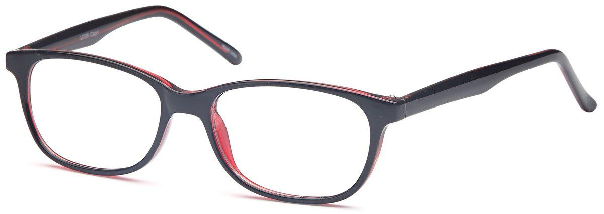 Black-Classic Oval U 208 Frame-Prescription Glasses-Eyeglass Factory Outlet