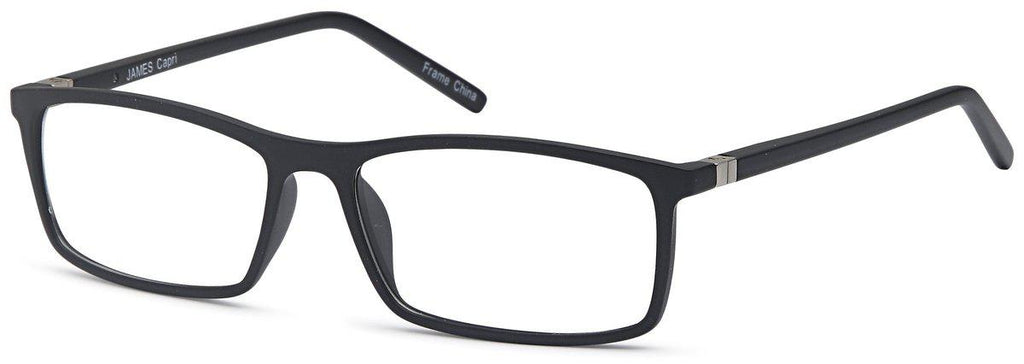 Black-Classic Rectangular James Frame-Prescription Glasses-Eyeglass Factory Outlet