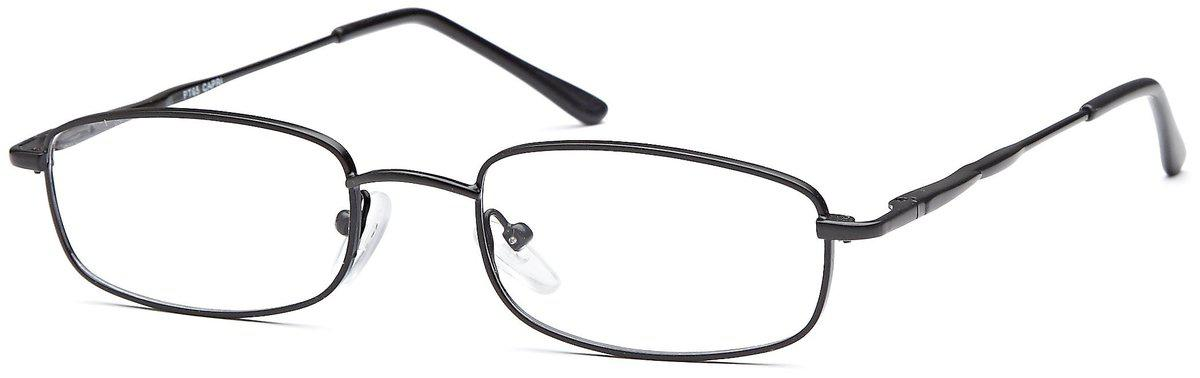 Black-Classic Rectangular PT 65 Frame-Prescription Glasses-Eyeglass Factory Outlet
