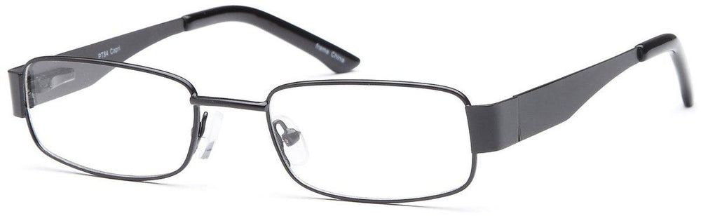 Black-Classic Rectangular PT 84 Frame-Prescription Glasses-Eyeglass Factory Outlet