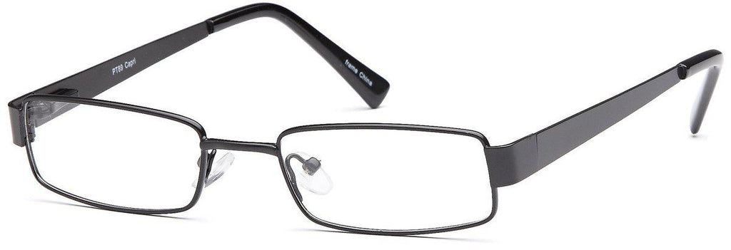 Black-Classic Rectangular PT 89 Frame-Prescription Glasses-Eyeglass Factory Outlet
