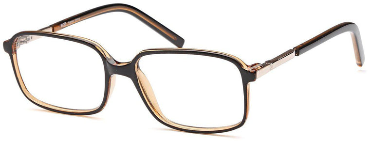 Black-Classic Square Bob Frame-Prescription Glasses-Eyeglass Factory Outlet