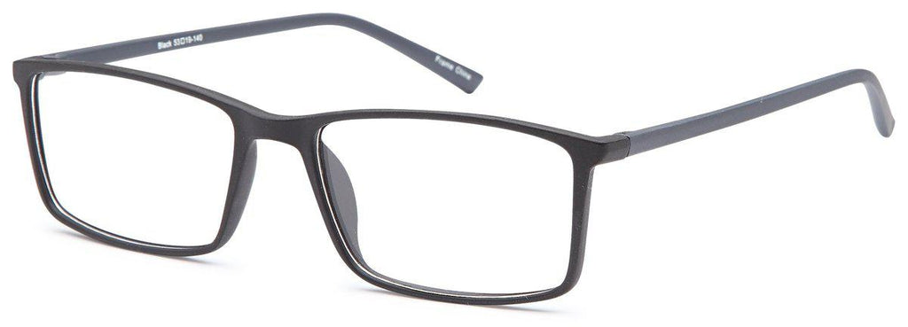 Black-Classic Square Ethan Frame-Prescription Glasses-Eyeglass Factory Outlet