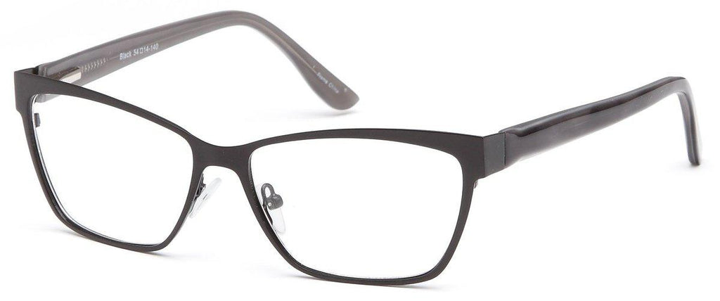 Black-Funky Square DC 113 Frame-Prescription Glasses-Eyeglass Factory Outlet
