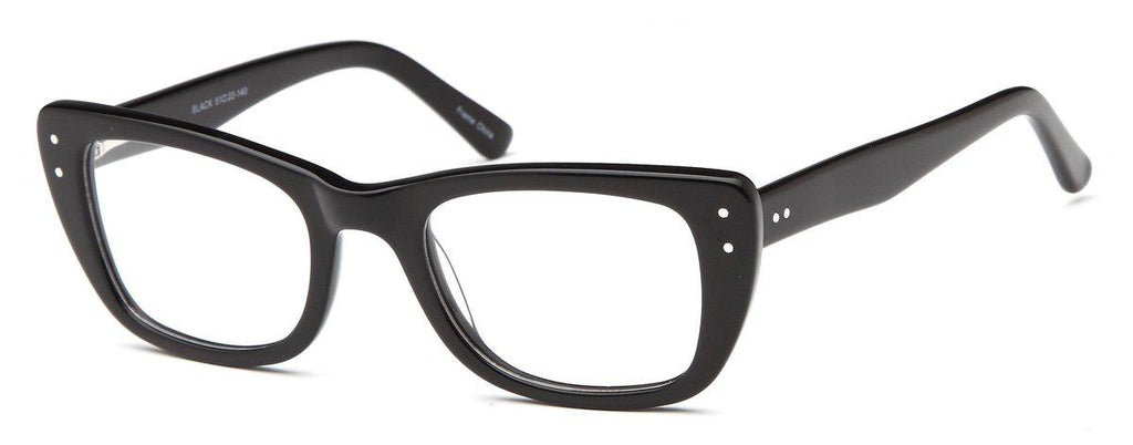 Black-Modern Cat Eye DC 119 Frame-Prescription Glasses-Eyeglass Factory Outlet