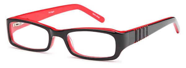 Black-Modern Oval Kids T 15 Frame-Prescription Glasses-Eyeglass Factory Outlet