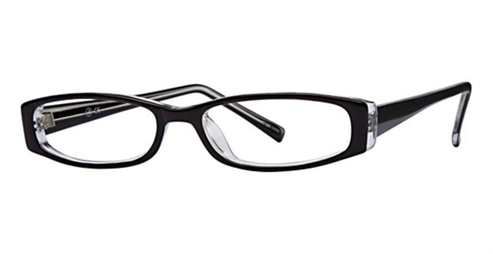 Black-Modern Oval Soho 83 Frame-Prescription Glasses-Eyeglass Factory Outlet