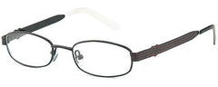Black-Modern Oval T 18 Frame-Prescription Glasses-Eyeglass Factory Outlet